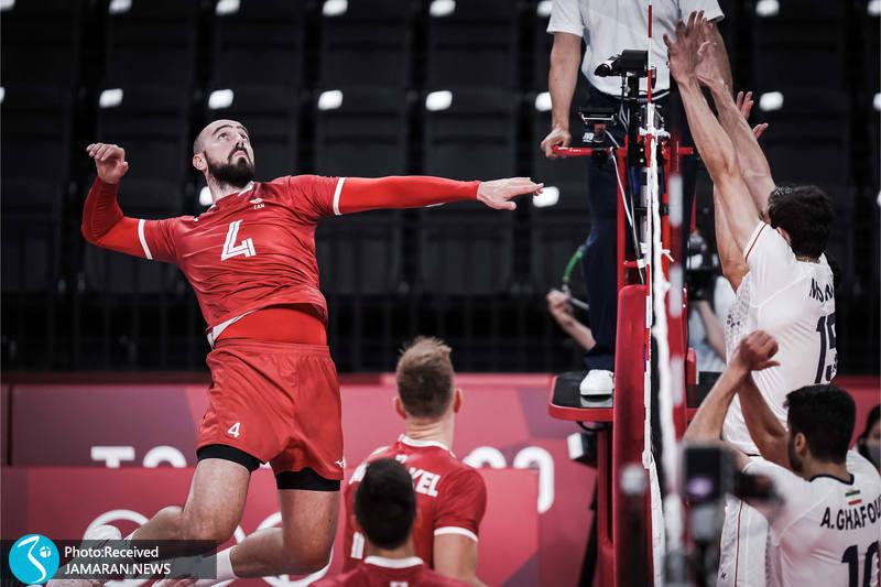 والیبال ایران و کانادا در المپیک توکیو