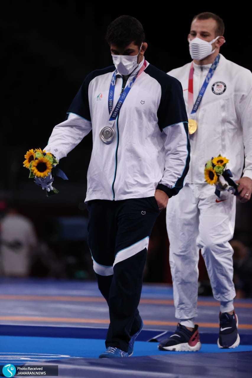 مراسم اهدای مدال حسن یزدانی المپیک 2020