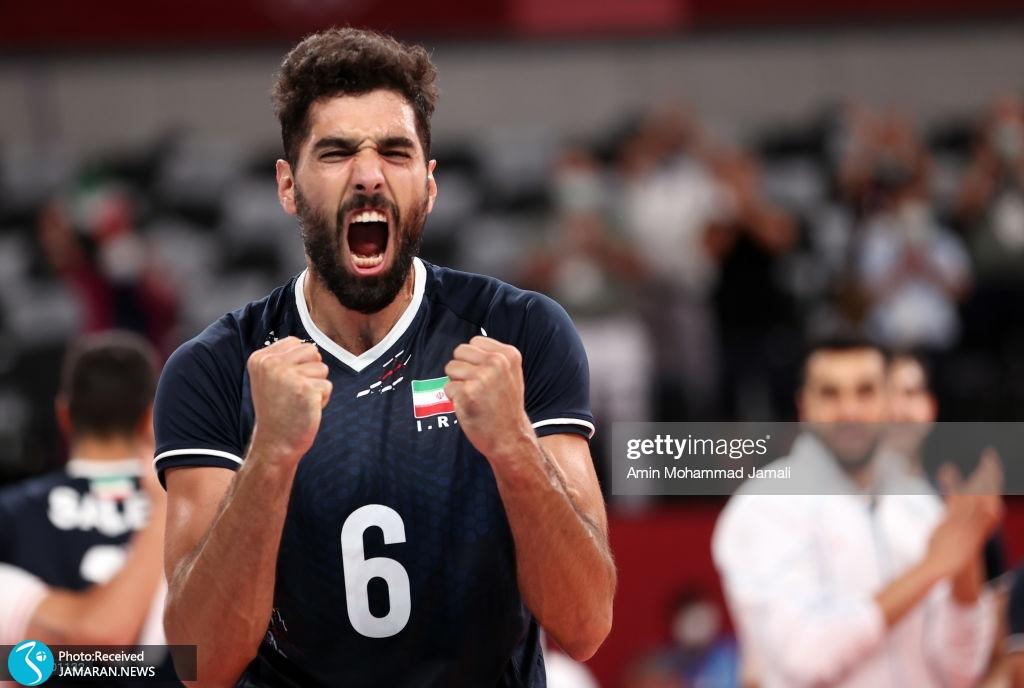 والیبال ایران و لهستان در المپیک محمد موسوی