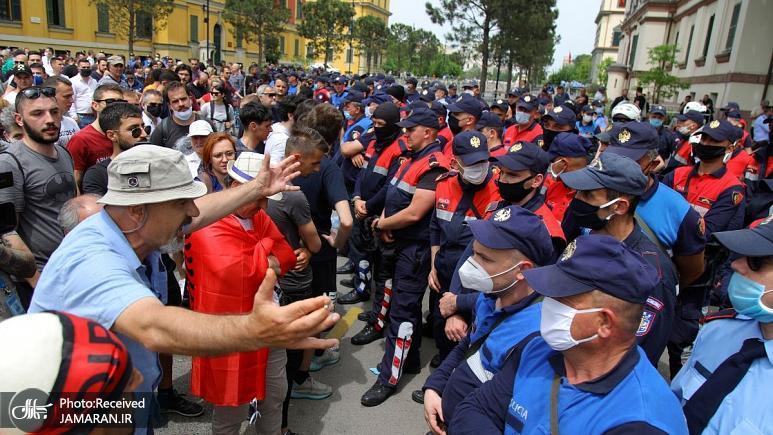 همسر+رئیس+جمهوری+آلبانی+در+جریان+تجمعی+اعتراضی+دستگیر+شد