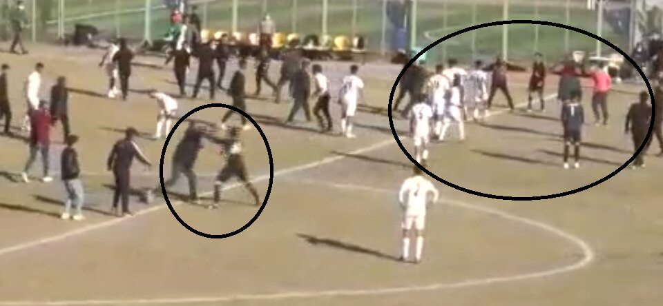 کتک زدن داوران در فوتبال پایه