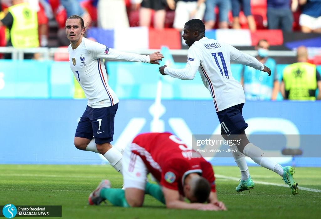 یورو ۲۰۲۰ - تیم فوتبال فرانسه و مجارستان گریزمان