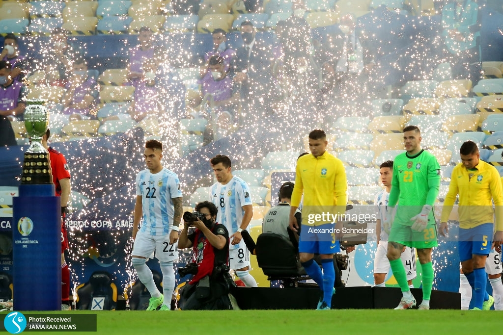 فینال کوپا آمه ریکا ۲۰۲۱ تیم فوتبال آرژانتین تیم فوتبال برزیل