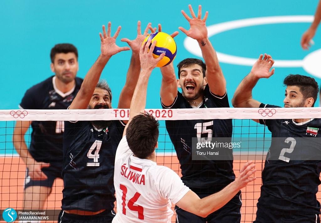 والیبال ایران و لهستان در المپیک ۲۰۲۰