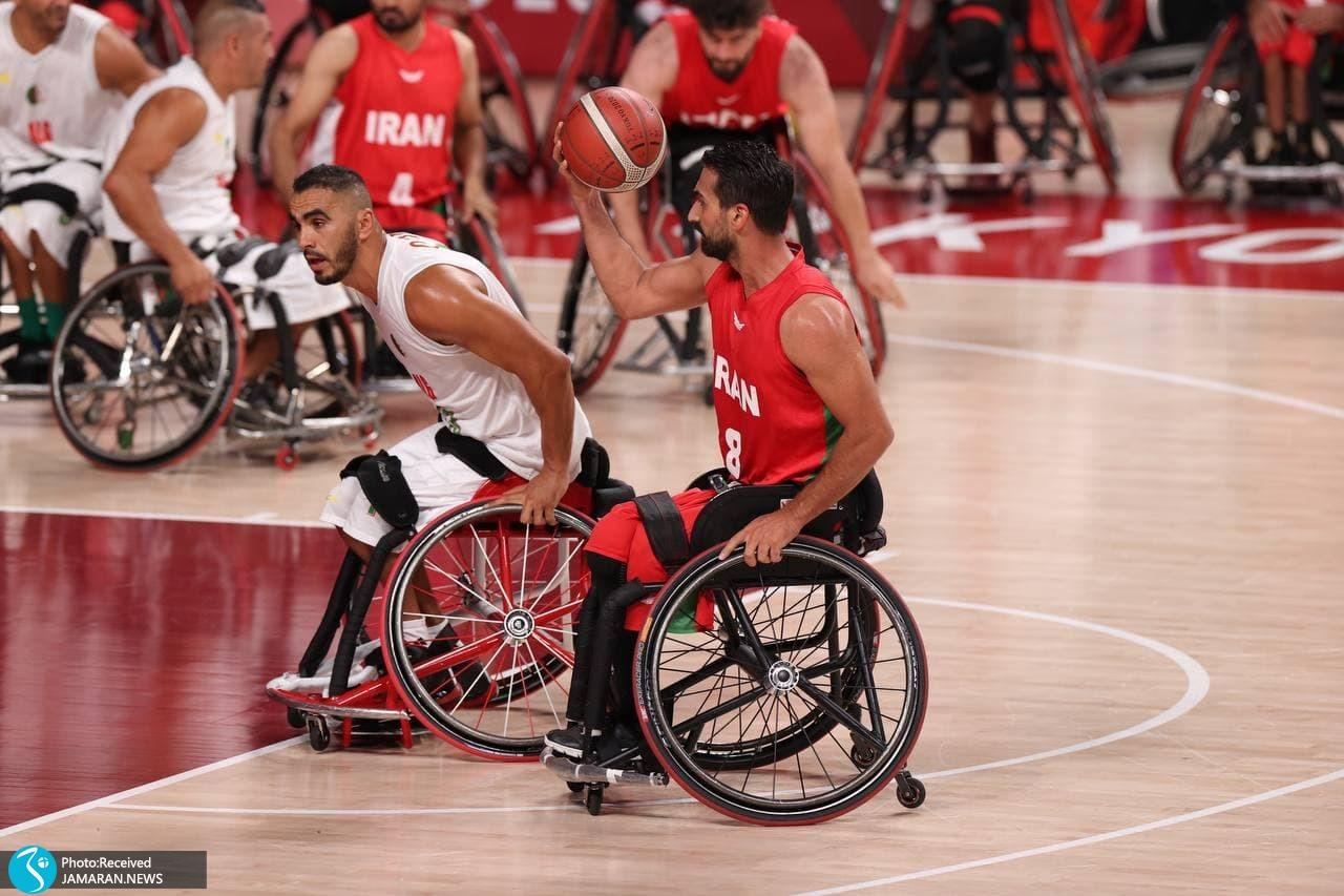 بسکتبال با ویلچر - ایران - الجزایر