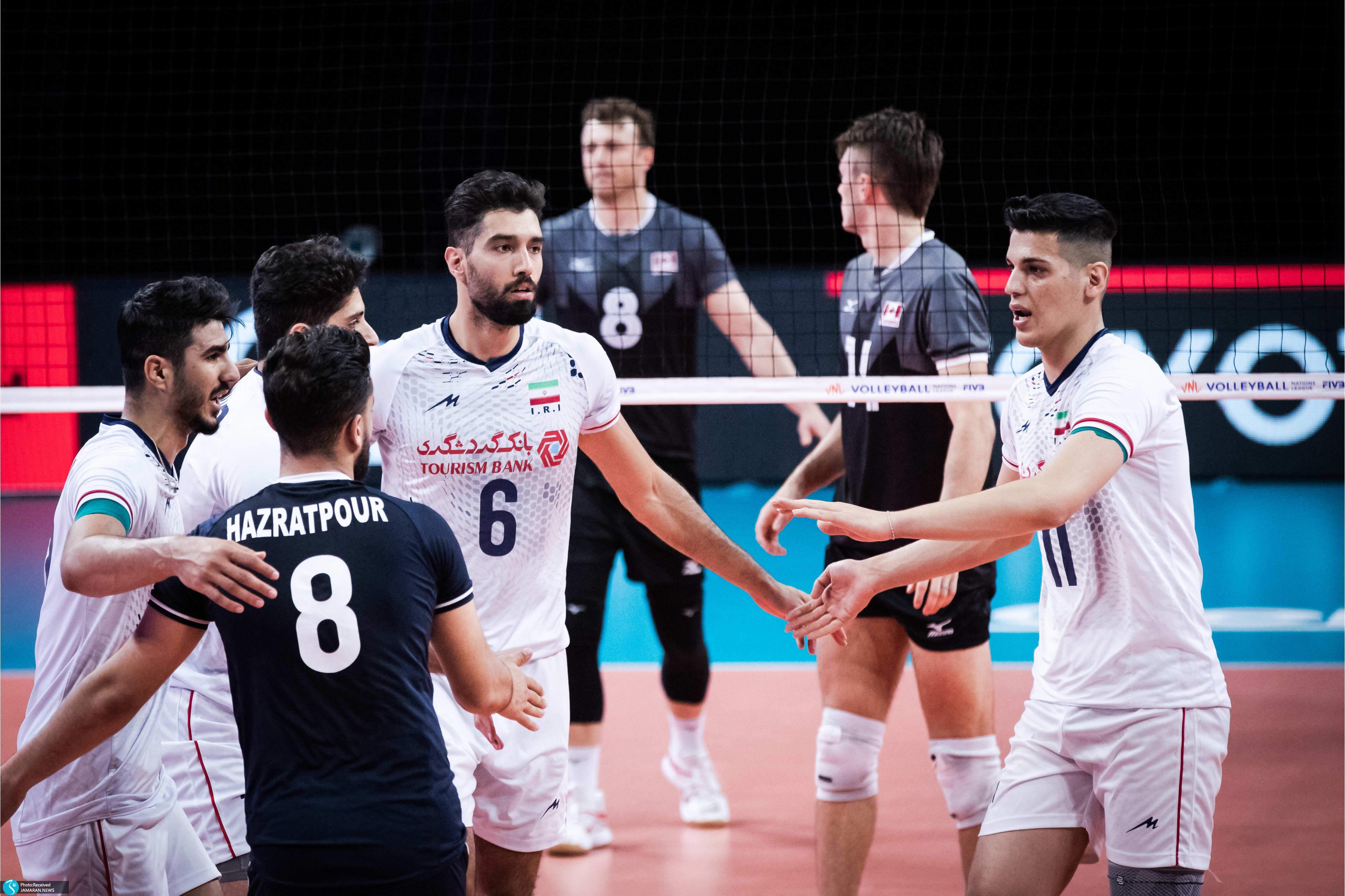 لیگ ملت های 2021- تیم ملی والیبال ایران تیم ملی والیبال کانادا- ایران و کانادا
