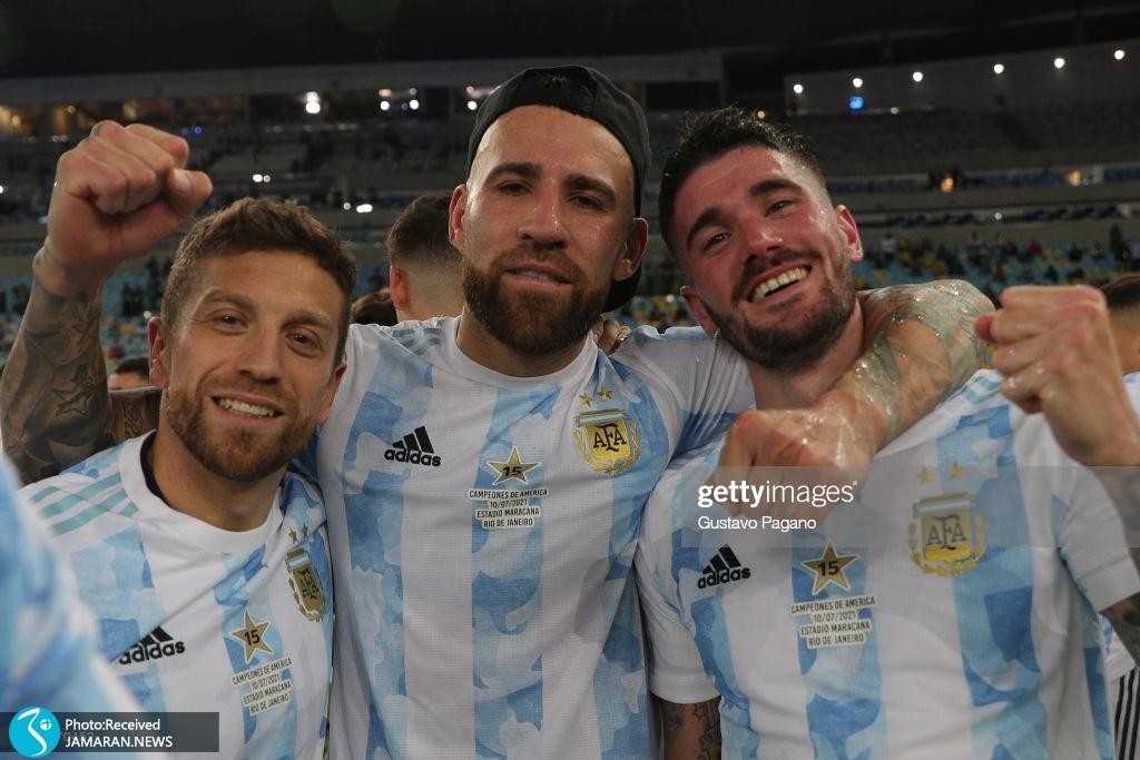 جشن قهرمانی آرژانتین در کوپا آمه ریکا