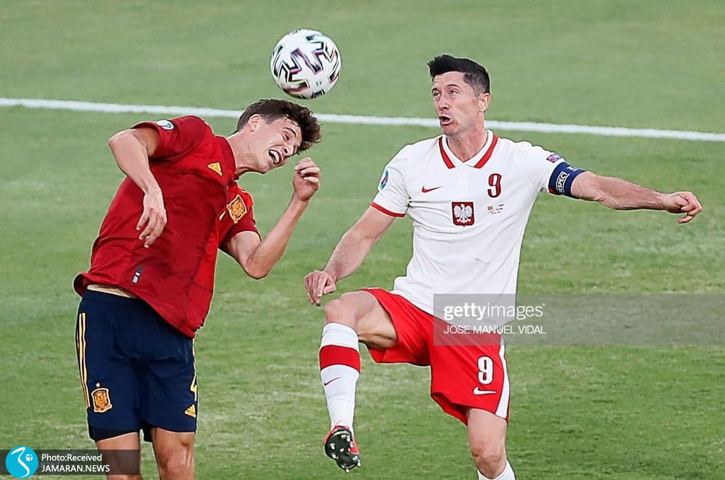 روبرت لواندوفسکی یورو 2020 - تیم فوتبال اسپانیا تیم فوتبال لهستان