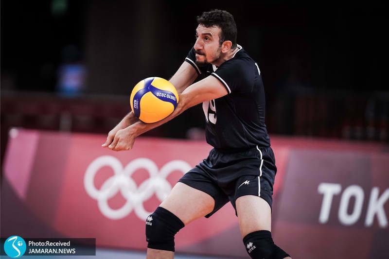 مهدی مرندی والیبال ایران و کانادا در المپیک توکیو