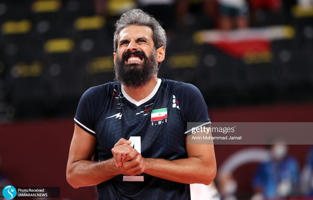 والیبال ایران و لهستان در المپیک سعید معروف