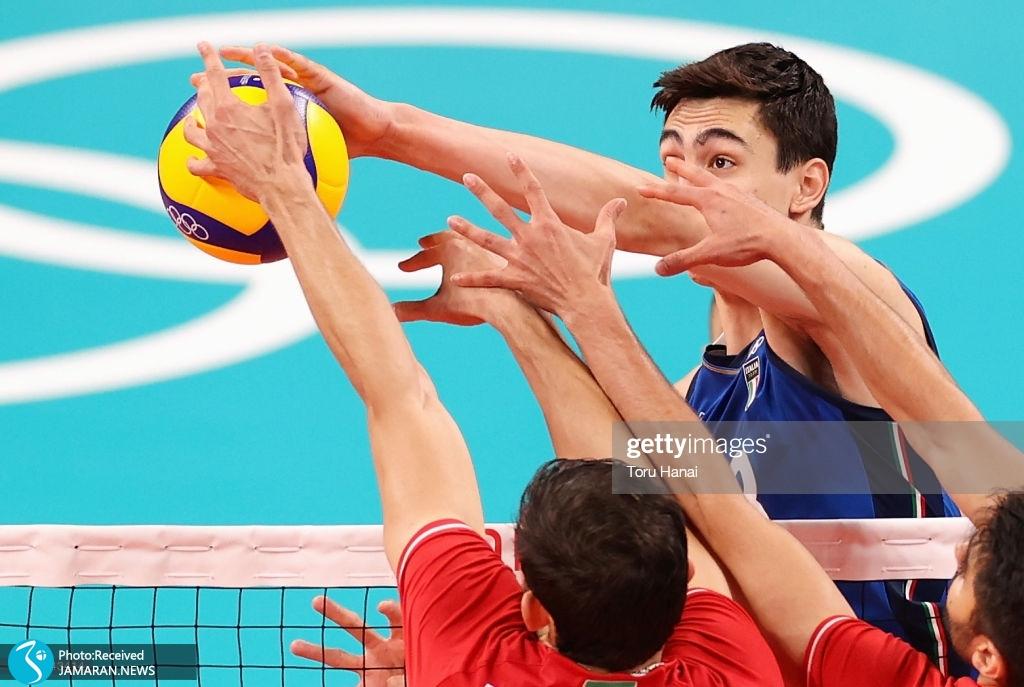 والیبال ایران و ایتالیا در المپیک
