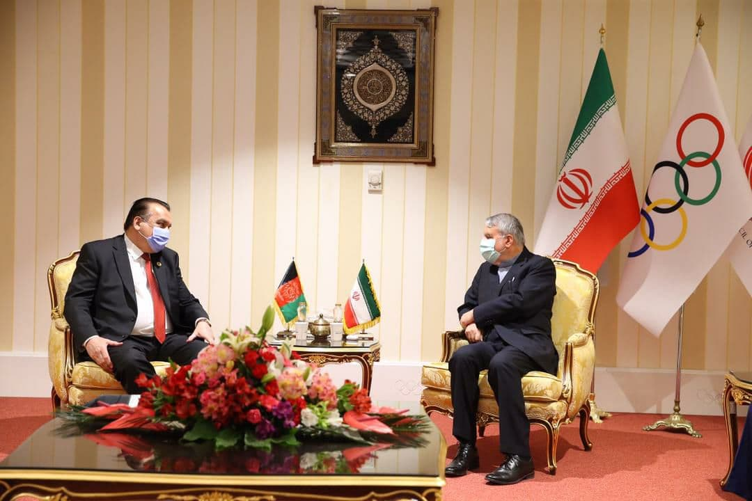 جلسه رئیس کمیته المپیک افغانستان با مقامات ایرانی