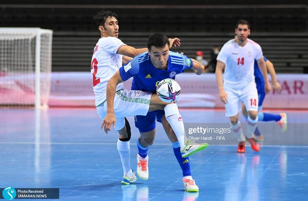 محمد شجری تیم ملی فوتسال ایران قزاقستان