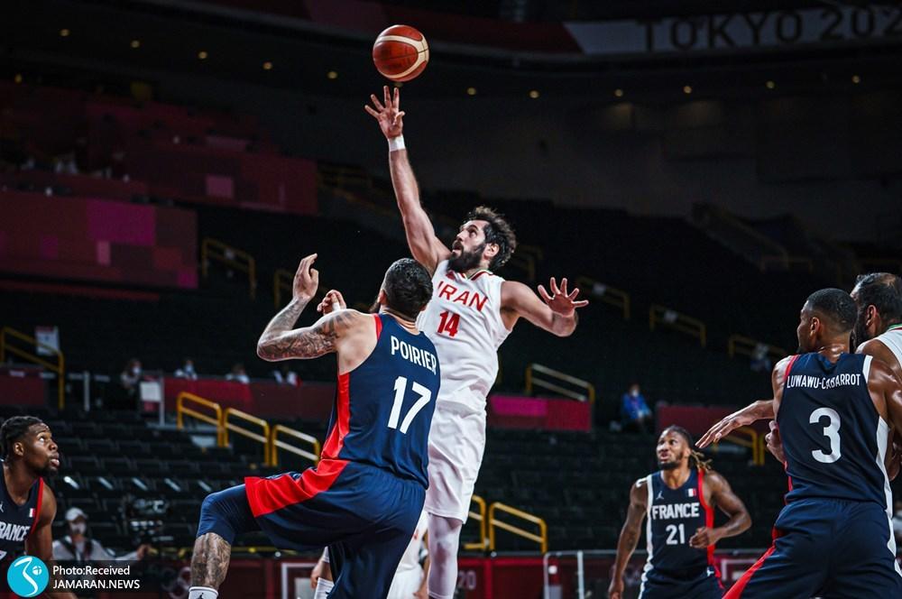 صمد نیکخواه بهرامی بسکتبال ایران و فرانسه در المپیک