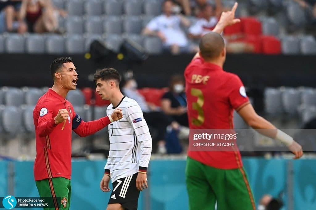 یورو 2020- تیم فوتبال پرتغال و آلمان- کریستیانو رونالدو