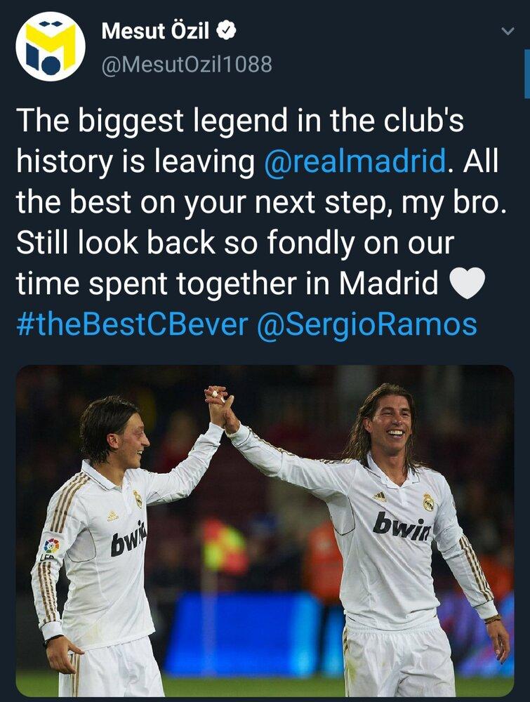واکنش ها به خداحافظی راموس از رئال مادرید