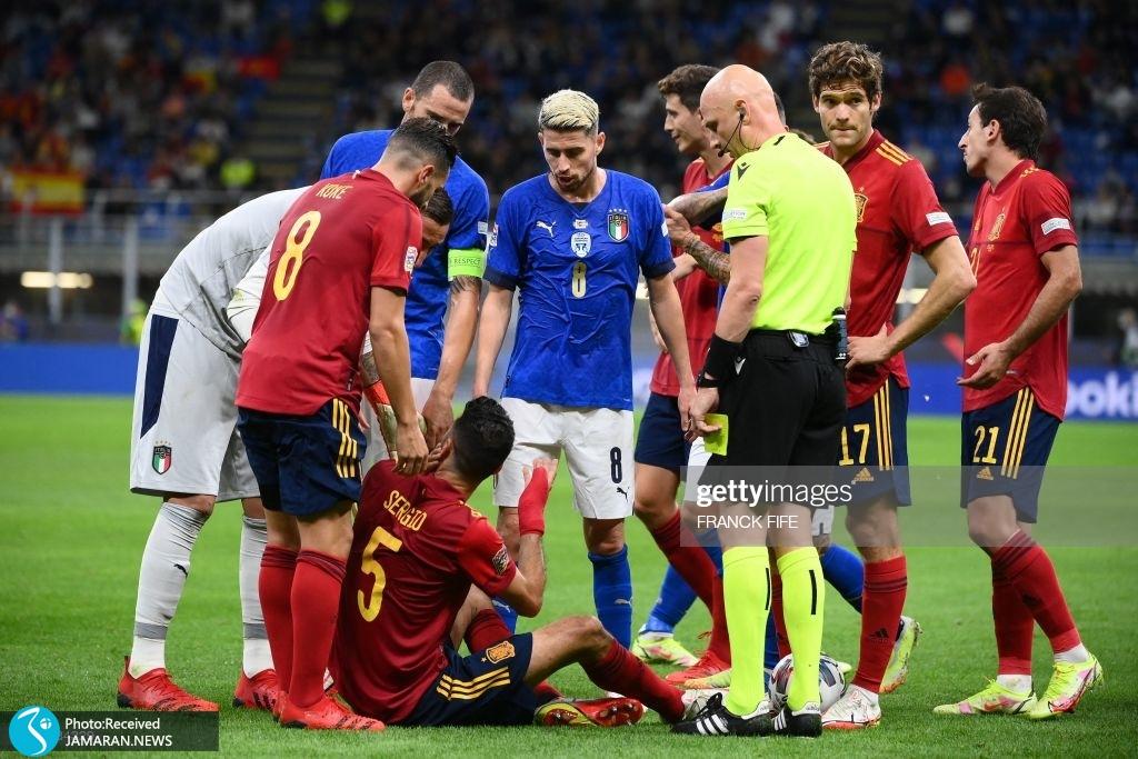 ایتالیا اسپانیا سرخیو بوسکتس