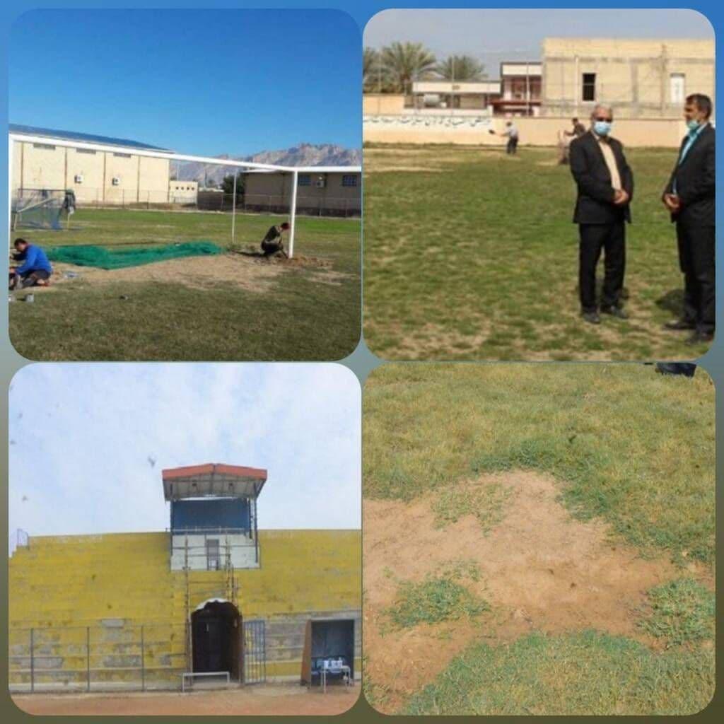 وضعیت عجیب ورزشگاه شاهین بندرعامری پیش از دیدار با پرسپولیس