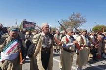 رژه با صلابت نیروهای مسلح در یاسوج برگزار شد