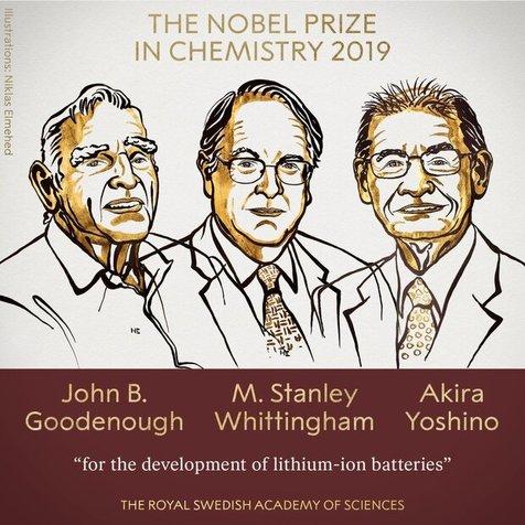 برندگان نوبل شیمی ۲۰۱۹ معرفی شدند