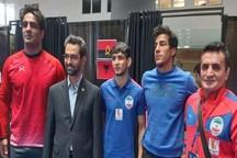 حضور آذری جهرمی در اردوی تیم ملی کشتی فرنگی/ عکس