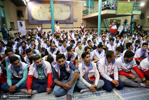 تجدیدمیثاق جوانان هلال احمر با آرمان های حضرت امام(س)