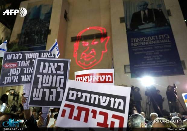 تظاهرات علیه فساد نتانیاهو+ تصاویر