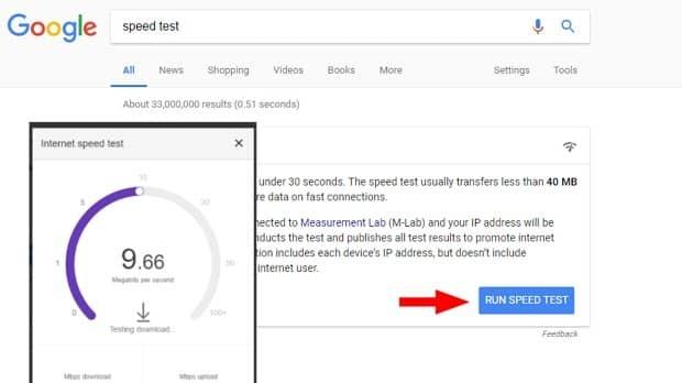 سرعت اینترنت.