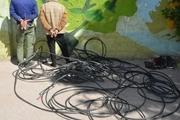 اعضای باند سرقت کابل برق  در آمل دستگیرشدند