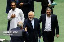 خنده ظریف در مجلس+ عکس