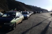 رژه تاکسیرانان سردشت در دهه فجر برگزار شد