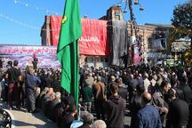 مردم شهر ساحلی انزلی در اربعین سالار شهیدان عزاداری کردند
