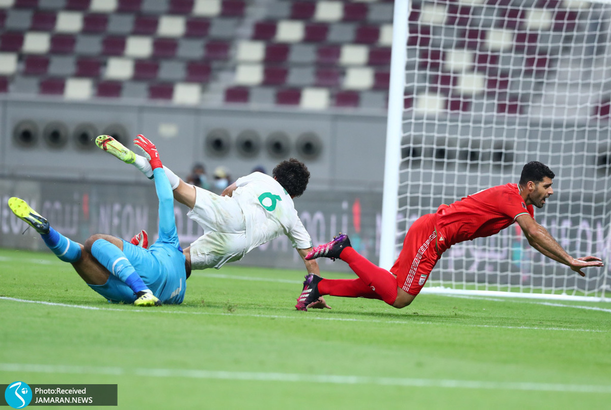 موقعیت حساس گلزنی تیم ملی ایران مقابل امارات که از دست رفت+ویدیو