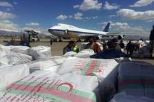 110 تن کالا از فرودگاه پیام به مناطق سیل زده ارسال شد