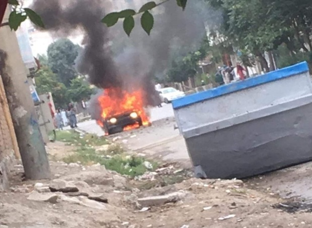 حمله راکتی به کابل در زمان نماز عید قربان + فیلم