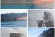 تصاویر جدید منتشر شده از نفتکش ایرانی که حمله قرار گرفت