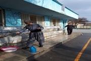 فضای داخلی و بیرونی مدارس کردستان ضدعفونی شد