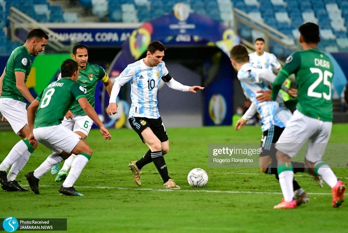 آتش بازی آرژانتین با مسی و پیروزی پرزحمت اروگوئه مقابل پاراگوئه+عکس و ویدیوی گل ها