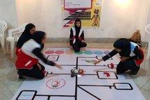 مسابقات رباتیک کانون های هلال احمر در قزوین برگزار شد
