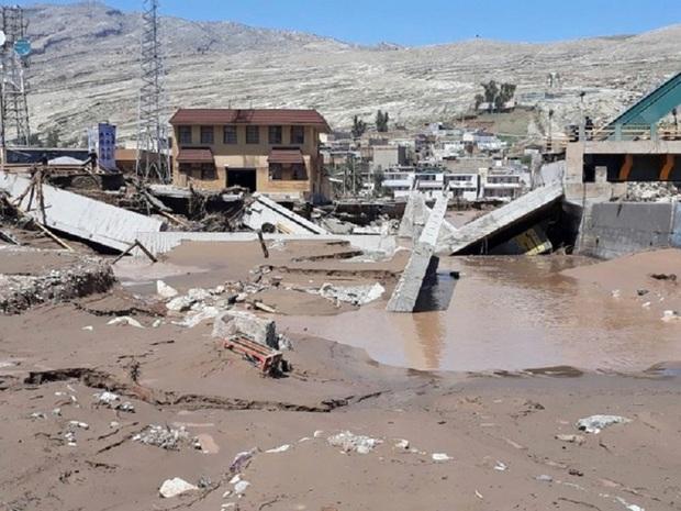 سیلاب به یک شهرک صنعتی در بینالود خسارت وارد کرد