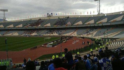 تصویری از ورزشگاه آزادی در فاصله 5 ساعت مانده به دربی 89