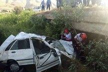 سقوط پراید از پل تخریبشده کاکارضا و مرگ سه نفر