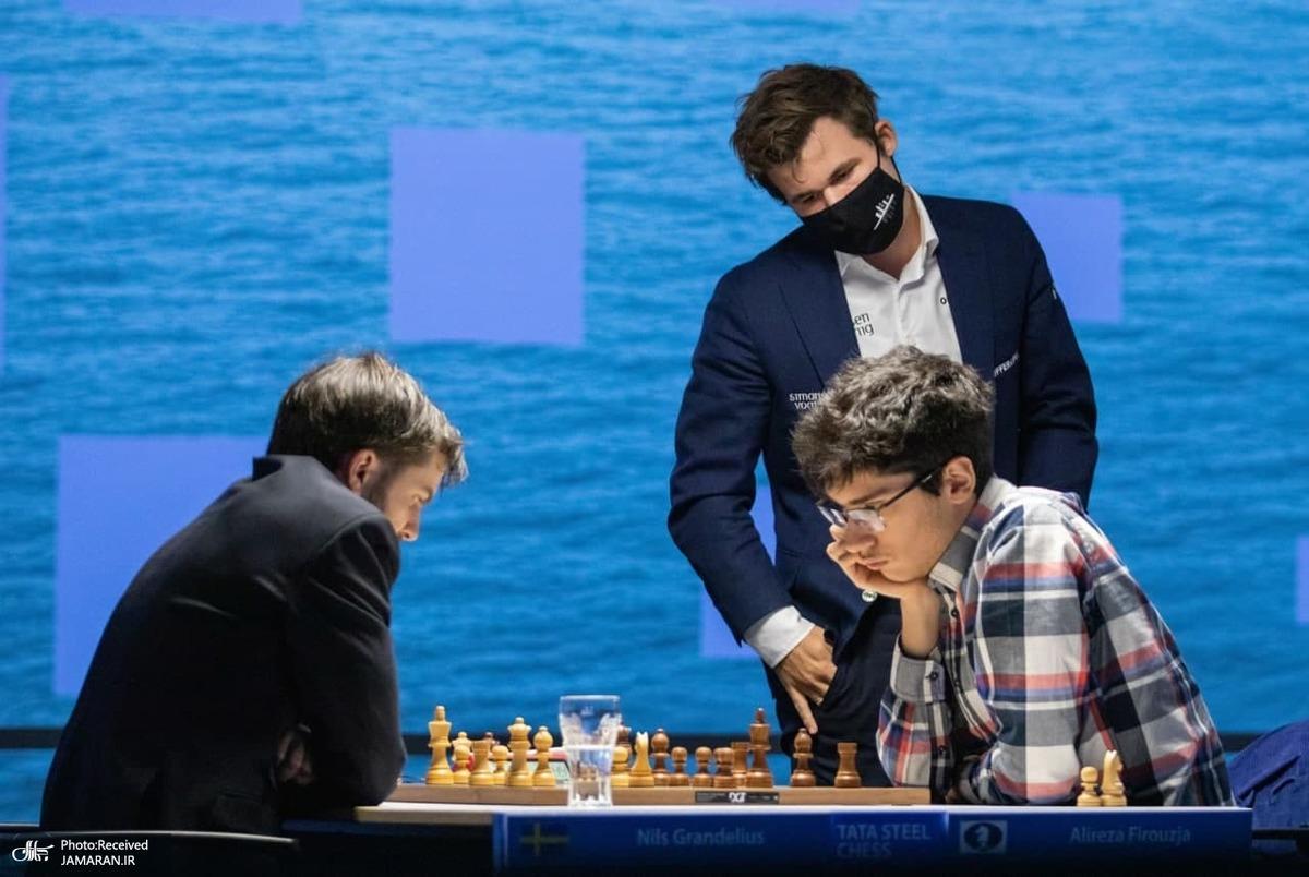 صدرنشینی دشمن هلندی کارلسن و شکست نایب قهرمان  سابق جهان مقابل فیروزجا+ نتایج کامل