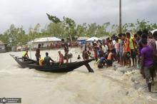 خسارات جانی و مالی شدید بر اثر توفان در هند و بنگلادش+ تصاویر