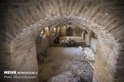 مرمت اضطراری حمام تاریخی روستای ابراهیم آباد اراک انجام شد