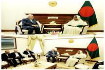 دیدار ظریف با نخست وزیر بنگلادش