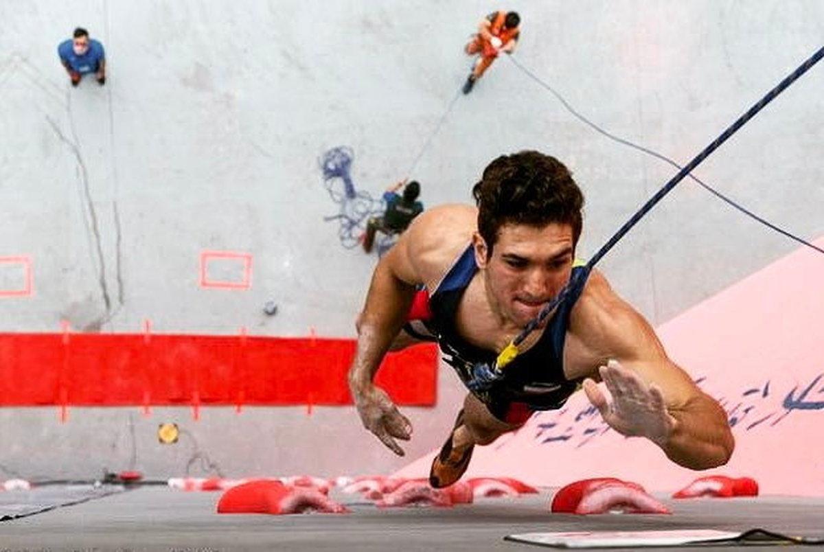 رکورد جهانی سنگنورد ایرانی شکست