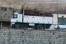 کامیون حامل چوب قاچاق در مهاباد متوقف شد