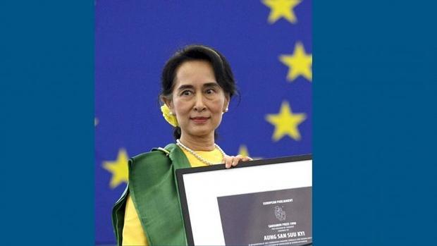 اروپا نام آنگ سان سوچی را از فهرست جایزه حقوق بشر حذف کرد