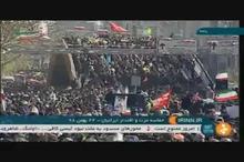 حرکت مردم تهران از پل حافظ به سمت میدان آزادی در ۲۲ بهمن ۹۸
